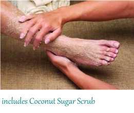 Print coconut sugar scrub